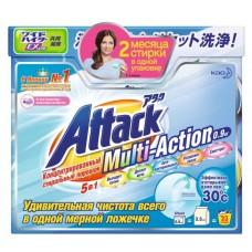Cтиральный порошок концентрированный «Attack Multi-Action», 0.9 кг